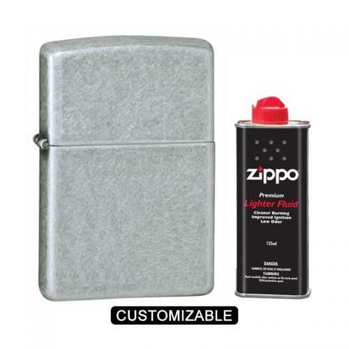 Zippo 121FB Antique Silver Lighter