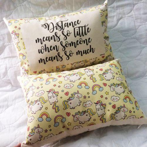 Personalised Unicorn Long Pillow