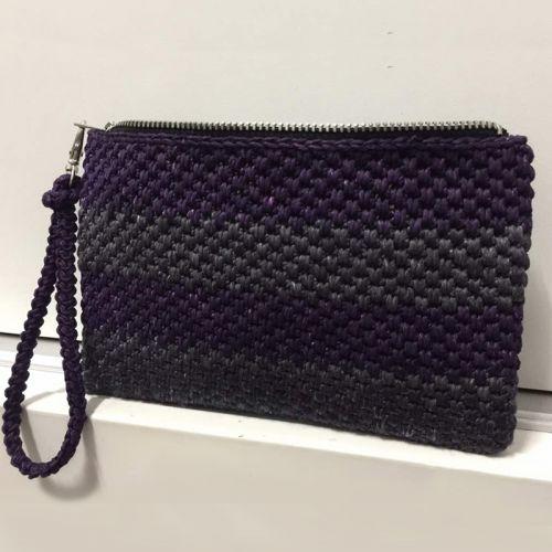 Basket Weave Clutch Handmade