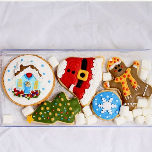 Holly Jolly Santa Cookies