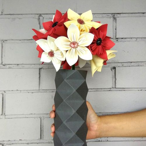 Paper Flowers Anggun (Flowers In Vase)