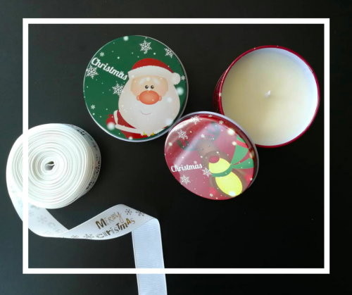 Christmas Edition Soy Wax Candles Bundle of 2 (Cotton & Apple)