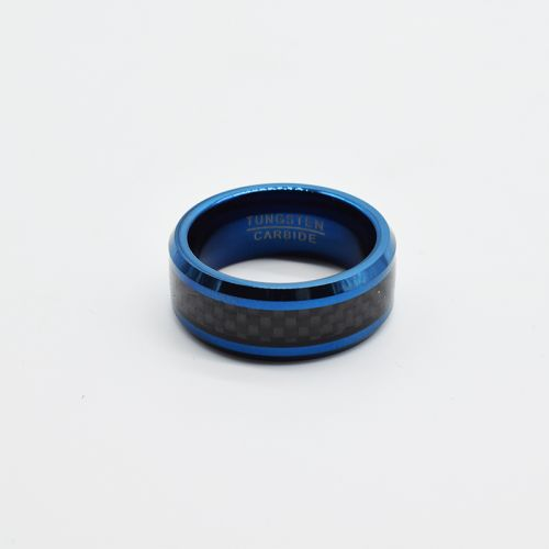 Personalised Carbon Blue Fashion Ring