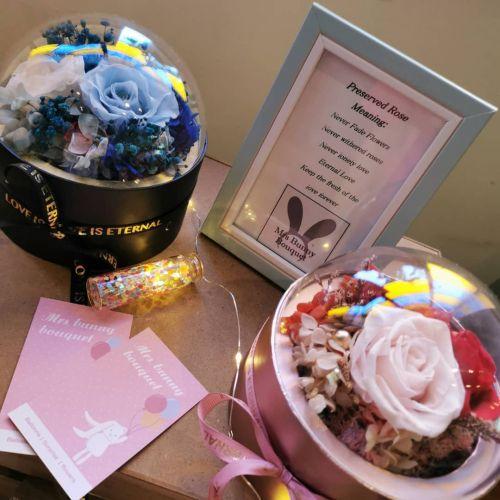 Preserved rose flower box