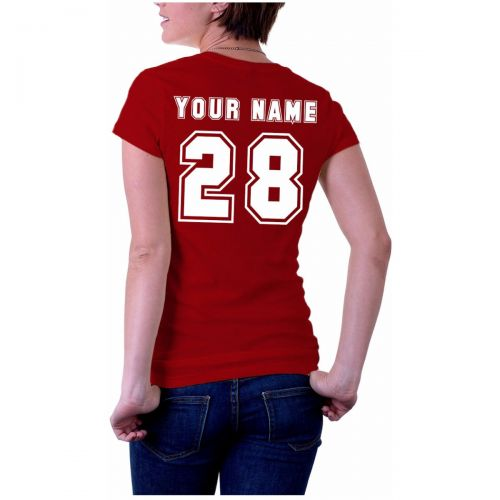 Personalised Jersey Styled Lady T-Shirt
