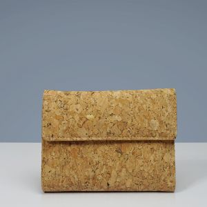 EcoQuote Bi Fold Side Zip Wallet Handmade Cork Material Great For Vegan, Environment Concious Friends