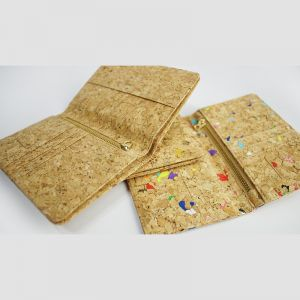 EcoQuote Passport Holder Deluxe Hadmade Cork Material
