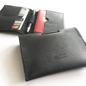 Personalised InStyle Leather Passport Holder With Pen