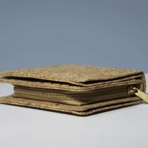 EcoQuote Compact Bi Fold Wallet Handmade Cork Material Eco-Freindly, Sustainable & Great for Vegan, Environment Concious Friends