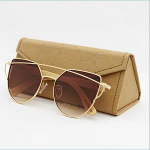 Cat eye Bamboo Sunglasses C010 (Wood like)