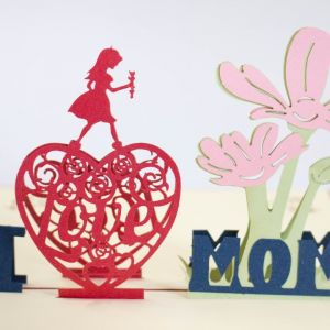 Handmade 3D Greeting Card - I Love You Mom (Mother's Day)