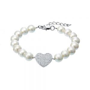 Adore White Swarovski Pearl Bracelet