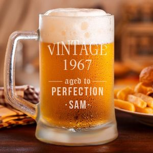 """""""Aged to Perfection"""" Personalized Classic Beer Mug"""