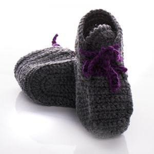 Handmade Crochet High Cut Baby Boot