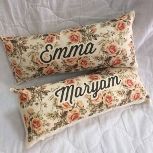 Personalised Flower Pattern Pillow - Mother's Day