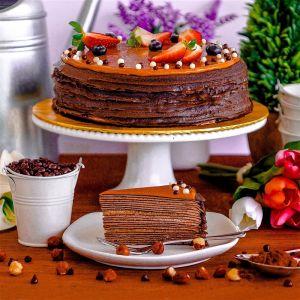 Hazelnut Chocolate Crepe Cake
