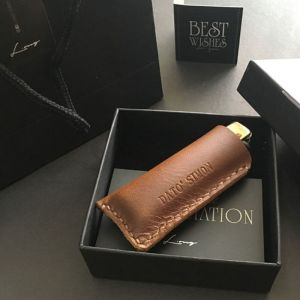 Personalised InStyle Leather Lighter Sleeve