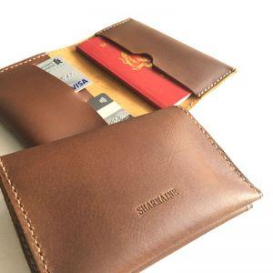 Personalised Genuine Leather Passport Holder