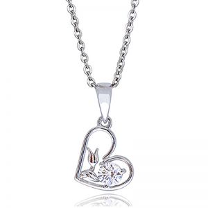 Premium Flower Heart Pendant Necklace
