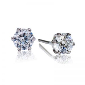 Premium 6 Prong Solitaire Stud Earrings