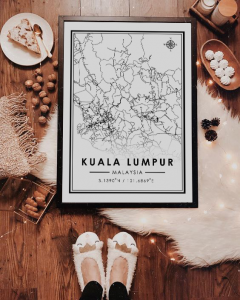 Malaysia Map Poster