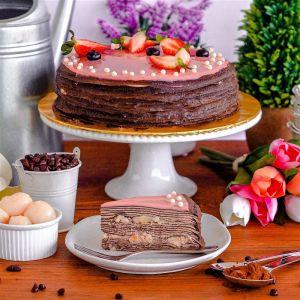 Lychee Chocolate Crepe Cake