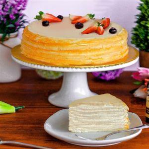 Madagascar Vanilla Crepe Cake