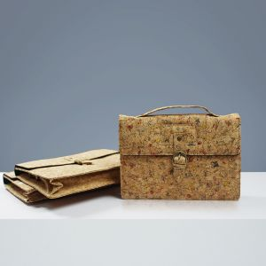 EcoQuote Satchel Style Sling Bag Handmade Cork Eco Friendly Material Great for Vegan, Environment Concious Freinds & Unique at Heart