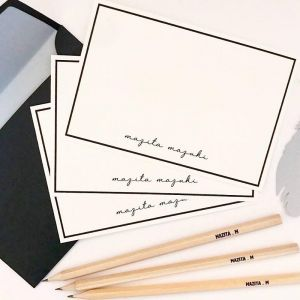 Personalised Notecards and Personalised Pencils