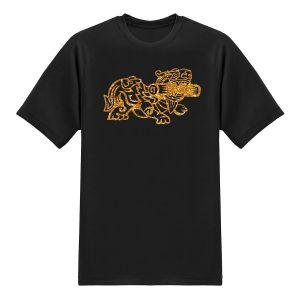 Auspicious Designer Tees - TianLu - Glitter Gold T-shirt