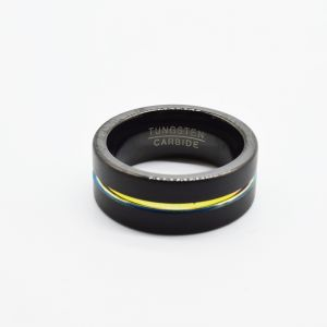 Personalised Rainbow Stripe Fashion Ring